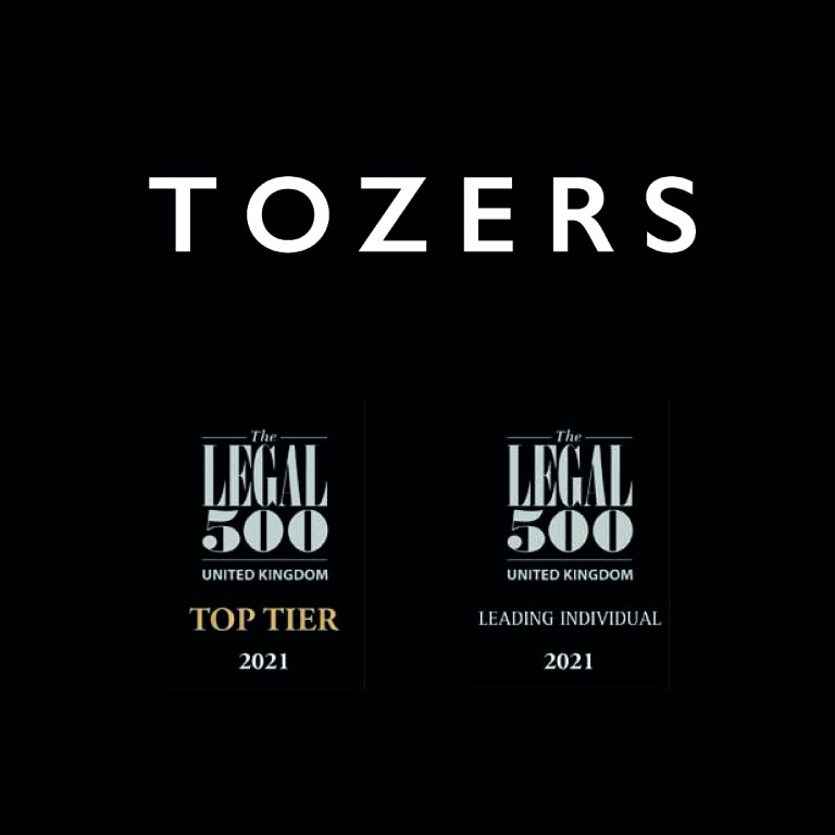 Tozers named as Top Tier firm in Legal 500 2021 directory