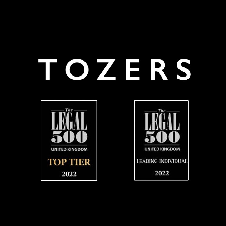 Tozers secure number of top positions in Legal 500 2022 directory