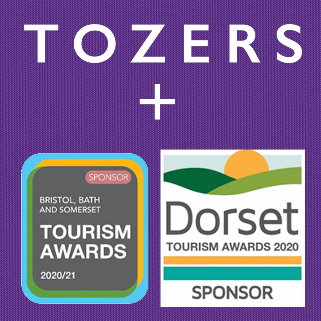 Tozers LLP support regional tourism awards; Dorset Tourism Awards and Bristol, Bath and Somerset Awards